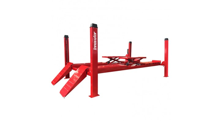 Four post lift with second rise scissor is added to our product line