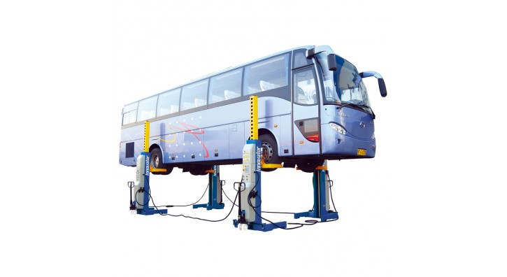 Mobile column lift for bus and truck is added to our product line